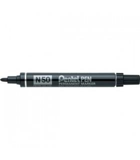 Marcatore Pentel N 50 punta tonda conf. da 12 pz. colore nero