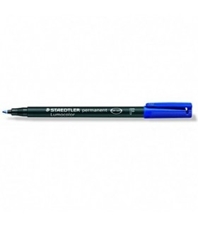 Pennarello Lumocolor F 0.6mm conf. da 10 pz. colore blu