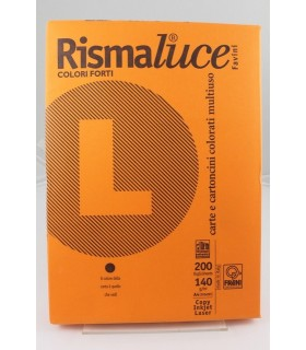 Rismaluce A4 Favini arancio 140gr da 200 fogli