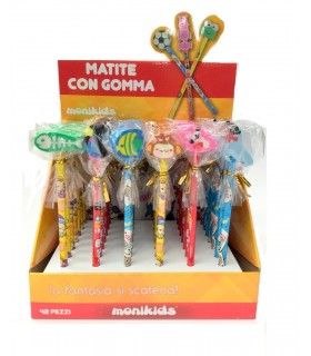 """Matita con Gomma """"Fish"""" Expo da 42 pz. assortiti"""