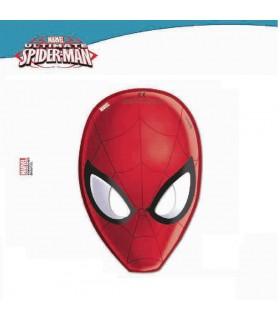 Mascherina in cartoncino  Spiderman conf. 6 pz.