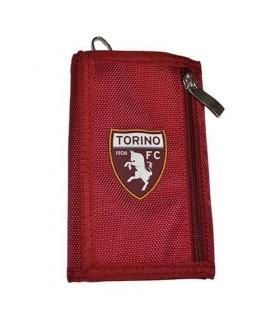 Portafoglio con portachiavi e chiusura in velcro con logo ufficiale Torino