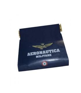 Portamonete Ecopelle Apertura Clic Clac Aeronautica Militare