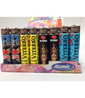 Accendino Atomic Festival Viterbo conf. 48 pz. assortito con 4 grafiche