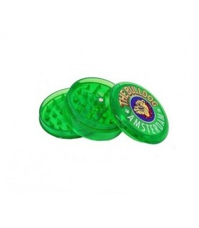 Grinder THE BULLDOG 3 Parti in Plastica Trasparente colore Verde