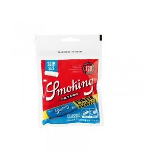 Filtri Smoking Slim 6mm  +  Cartina Blu corta   conf. da 30 buste