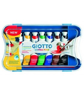 Scatola tempere Giotto 7pz. tubetto 12ml