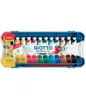 Scatola tempere Giotto 12pz. tubetto da 12ml