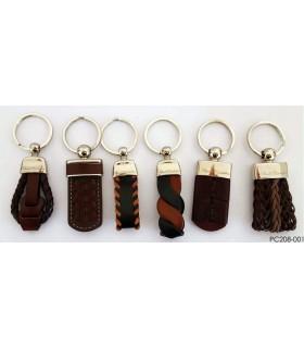 Portachiavi Classico in Pelle  intrecciato assortito in diversi colori