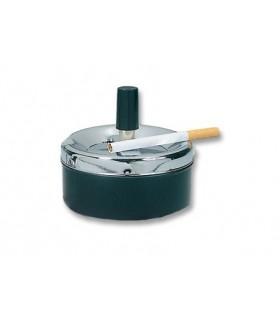 Portacenere in Metallo a pressione Finitura cromo e nera