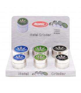 Grinder Atomic in Metallo 4 Parti Expo da 6 pz. assortito con 2 misure