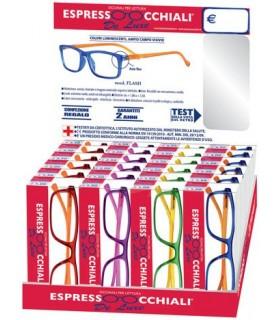 Occhiali da Lettura Espresso Occhiali Mod. Flash Expo da 24 pz. assortiti in 4 colori