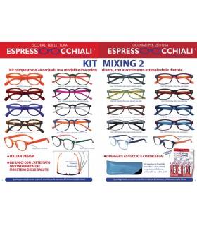 Occhiali da Lettura Espresso Occhiali Mixing 2 Expo girevole 24 pz. assortito con 4 modelli