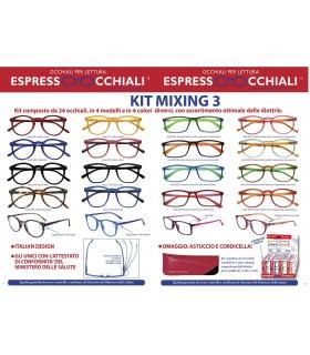 Occhiali da Lettura Espresso Occhiali Mixing 3 Expo girevole 24 pz. assortito con 4 modelli