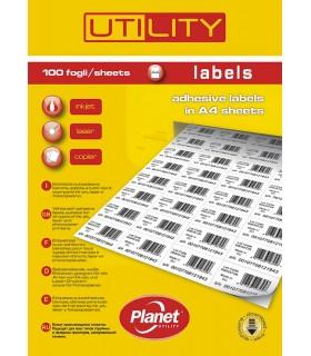 Etichette Adesive A4 Misura37.5x23.5 conf. 100 fogli