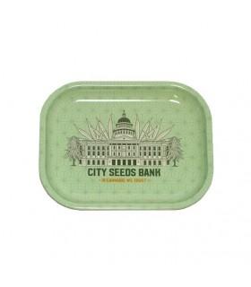 Vassoio in Metallo di Alta Qualità con stampa City Seeds
