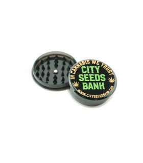 Grinder in Plastica 2 Parti City Seeds Bank Disponibile in 2 colori