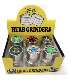 Grinder Jamaica 4 Parti in Metallo Expo 12 pz. Fantasie assortite