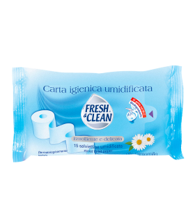 12 Carta Igienica umidificata Fresh & Clean