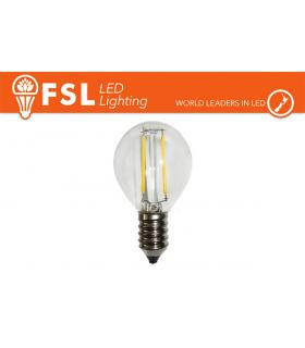 Lampadina Filamento LED FSL Bulbo piccolo E14 Potenza 4 Watt Resa 40 Watt