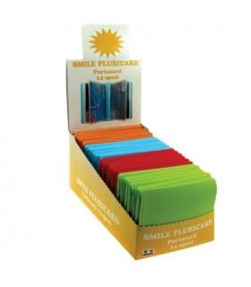 Portacard 14 Scomparti colorato Expo da 24 pz. assortito in 5 colori