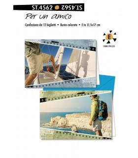 Biglietto Cromo Compleanno sena testo conf. 12 pz. assortiti