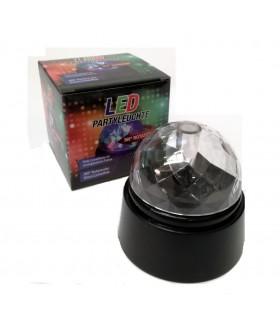 Palla Party con Luce Led  Ruota a 360° confezionata in scatola