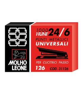 Punti per Cucitrice Leone 24/6 conf. 10 scatole da 1000 punti