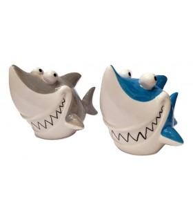 Salvadanaio Squalo Ceramica Disponibile in 2 colori