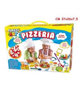 Plastiart Pizzeria con 5 barattoli da 85 gr e formine