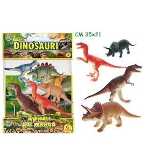 Animali Dinosauri Rigidi Busta da 6 pz