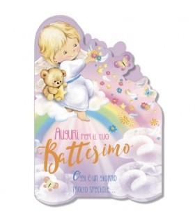 Biglietto Cromo Battesimo Girl conf. 12 pz. assortiti