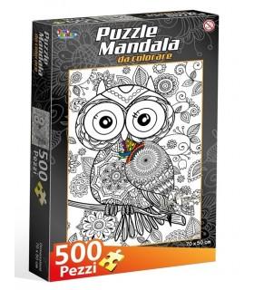 Puzzle Gufo da Colorare 500 pz