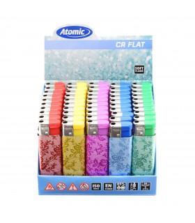 Accendino Elettronico Atomic Diamond conf. 50 pz.a ssortiti con 5 colori