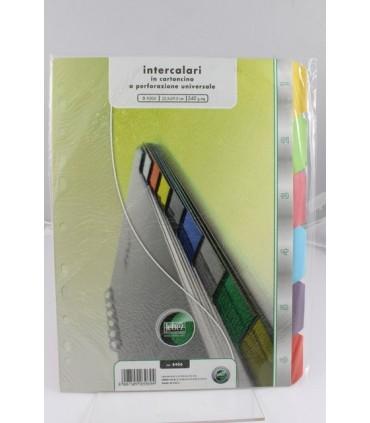 Intercalari in cartoncino colorato a 6 tacche Lebez