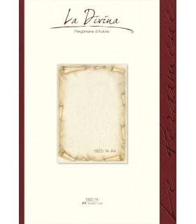 Carta Pergamena La Divina A4 160 gr. colore avorio conf.12 fogli