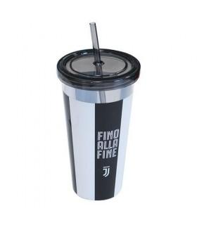 Bicchiere Juventus in Plastica Alto con cannuccia
