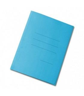 Cartelline smeraldo senza lembi Blasetti conf. da 50 pz. colore blu