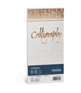 Buste Calligraphy Favini Canvas Bianco 100 gr. mis.11x22 conf. 25 buste