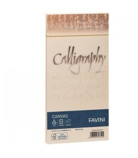 Buste Calligraphy Favini Canvas Avorio 100 gr. mis.11x22 conf. 25 buste