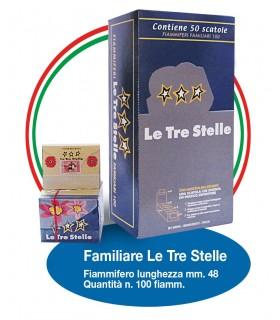 Fiammiferi Familiari Le Tre Stelle conf. 50 scatoline