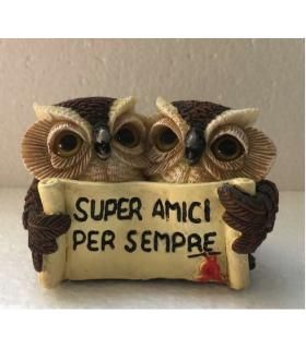 """Statuina in Resina GufettI """"Super Amici"""" H.7 cm"""
