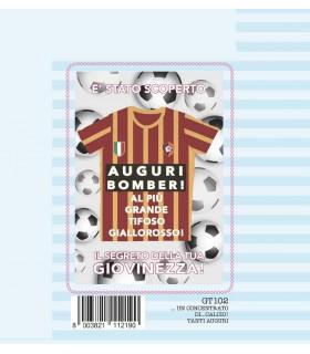 Biglietto Marpimar Squadra Giallo/rossa con Fustella conf. 6 pz.