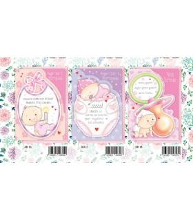 Biglietto Marpimar Battesimo Design Bambina conf. 12 pz. assortiti