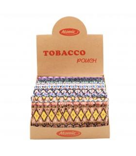 Busta Portatabacco XL Indian in Tessuto con Glitter conf. 12 pz. colori assortiti