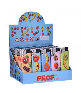 Accendino Elettronico Prof Fruits conf. 50 pz. assortito con 5 fantasie