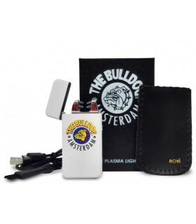 Accendino Elettronico The Bulldog al Plasma Colore Bianco