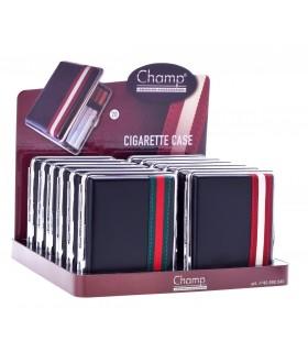 Porta Sigarette in Metallo Con Rivestimento in Similpelle Expo 12 pz. assortiti