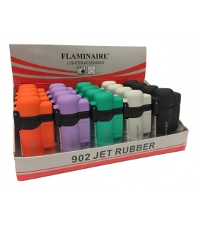 Accendino Flaminaire Turbo Jet Rubber conf. 20 pz. assortito con 5 colori