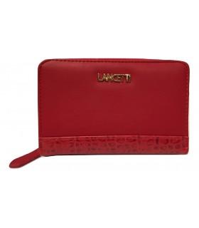 Portafoglio Donna Lancetti  con Apertura a Zip colore rosso